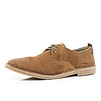 Brown Base lace up desert shoes