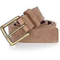 Light brown leather chino belt