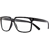Black textured clear nerd glasses