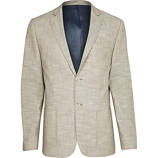 Light brown cross hatch blazer