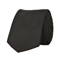 Black sateen tie