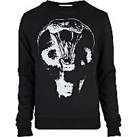 Black snake bite print sweatshirt