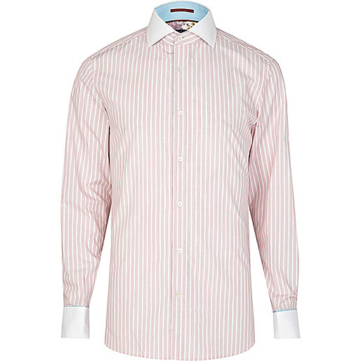 Pink Life of Tailor striped shirt