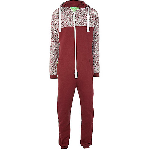 Red Dirty Roller colour block onesie