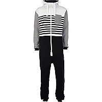 Navy Dirty Roller colour block stripe onesie