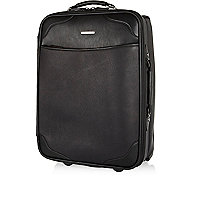 Black perforated wheelie suitcase