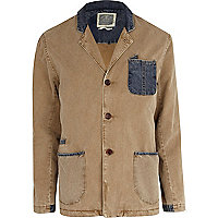 Brown and denim Holloway Road blazer