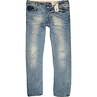 Light wash slouch fit jean