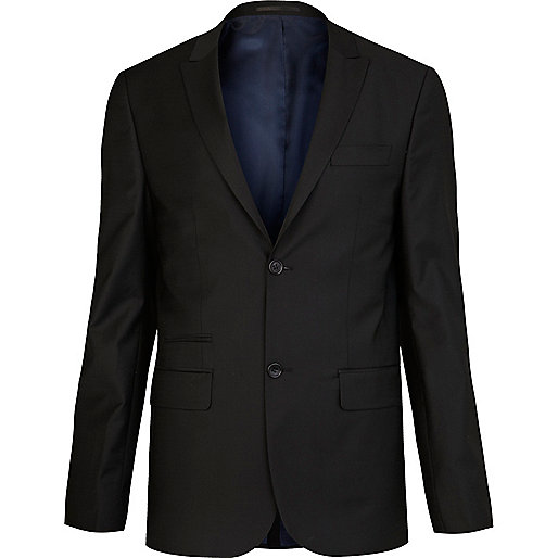 Black skinny suit jacket
