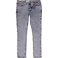 Purple acid wash Flynn skinny jeans