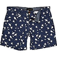 Blue flower print shorts
