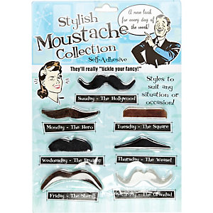 Novelty stylish moustache set
