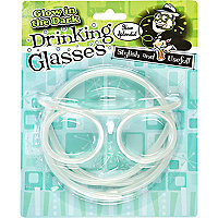 Glow in the dark drinking straw glasses