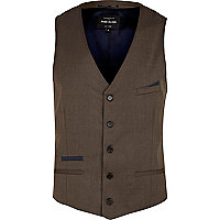 Light brown smart waistcoat