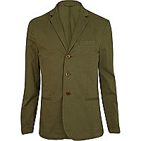 Khaki green lightweight blazer