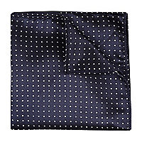 Navy polka dot pocket square
