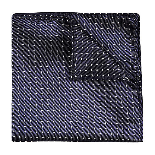 Navy polka dot handkerchief