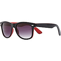 Black two-tone retro sunglasses