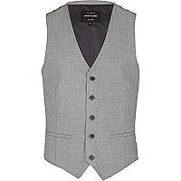 Grey classic smart waistcoat