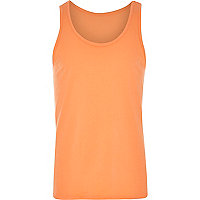 Orange plain basic vest