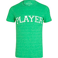 Green player t-shirt