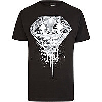 Black To The Black diamond print t-shirt