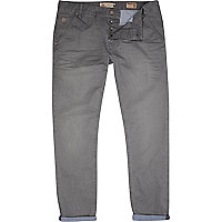 Grey distressed slim trousers