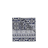 Blue and white aztec print handkerchief