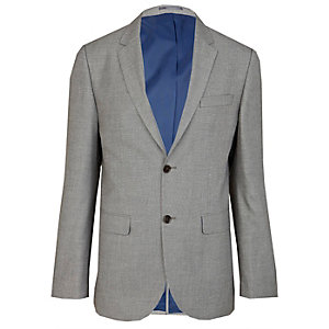 Grey tailored suit jacket
