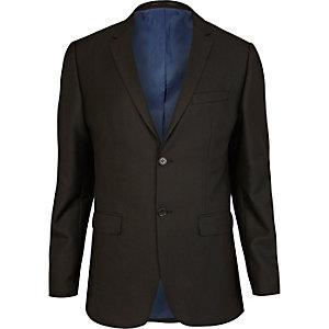 Black tailored suit jacket