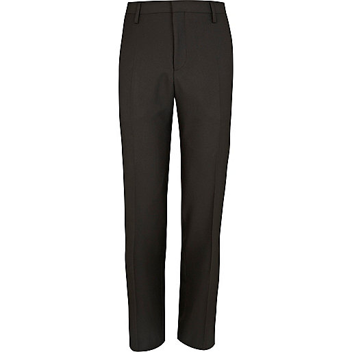 Black tailored suit trousers