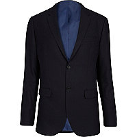 Navy blue classic suit jacket