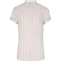 Light pink and grey striped shirt
