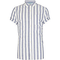 Light blue and white striped shirt