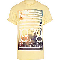 Yellow LA 1978 photo print t-shirt