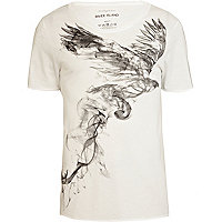 White bird print t-shirt