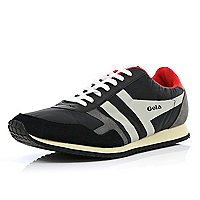 Black Gola colour block retro trainers