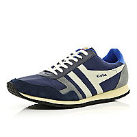 Navy Gola retro trainers