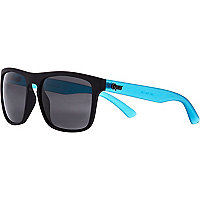 Blue colour block Quay sunglasses
