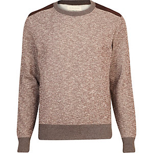 Brown flecked sweatshirt