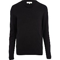 Black V neck jumper
