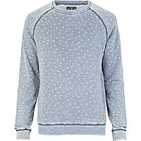 Blue Holloway Road acid wash jumper