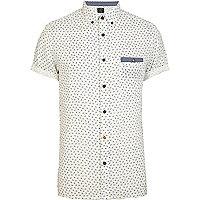 Ecru Holloway Road scissor print shirt