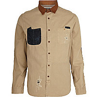 Ecru Holloway Road distressed shirt
