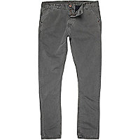 Grey washed chinos