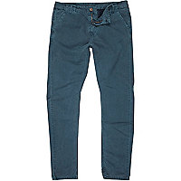 Blue washed slim chinos