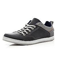 Navy two tone trainers