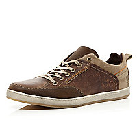 Brown two tone trainers