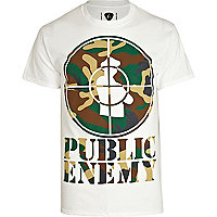 White Amplified Public Enemy print t-shirt