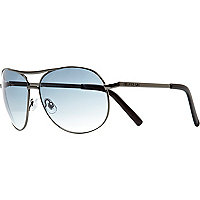 Black tinted aviator sunglasses